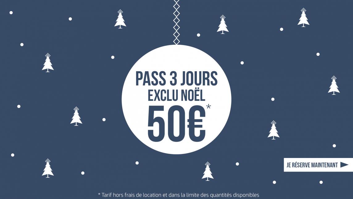Billetterie Pass 3 jours exclu noel
